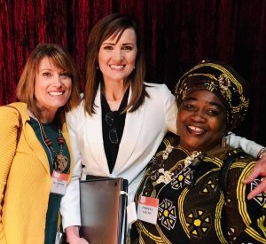 2019 or 2018 speaking at women's conf - Becky & Mariama