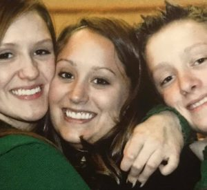 Kenna, Alyssa and Jace at WE Isom funeral